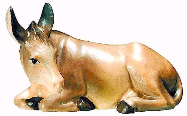 Immagine di Asino cm 12 (4,7 inch) Presepe Matteo stile orientale colori ad olio in legno Val Gardena