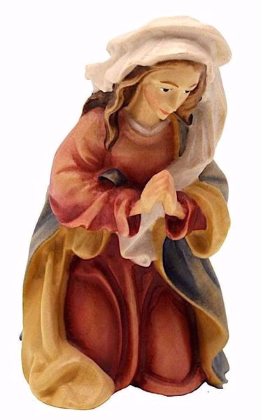 Immagine di Maria cm 12 (4,7 inch) Presepe Matteo stile orientale colori ad olio in legno Val Gardena