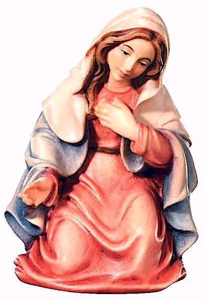 Imagen de María cm 12 (4,7 inch) Belén Matteo estilo oriental colores al óleo en madera Val Gardena