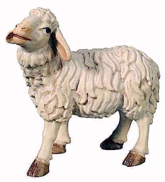 Picture of Standing Sheep cm 12 (4,7 inch) Matteo Nativity Scene Oriental style oil colours Val Gardena wood