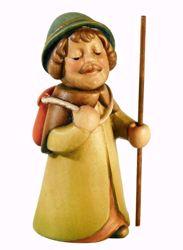 Immagine di Pastore con Sacco cm 10 (3,9 inch) Presepe Aurora Baby colori ad olio in legno Val Gardena con calamita