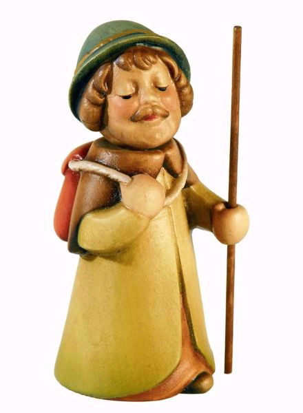 Picture of Shepherd with Sack cm 10 (3,9 inch) Aurora Baby Nativity Scene oil colours Val Gardena wood with magnet