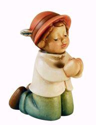 Immagine di Pastore in ginocchio cm 10 (3,9 inch) Presepe Aurora Baby colori ad olio in legno Val Gardena con calamita