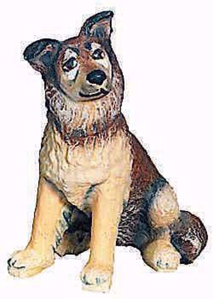 Picture of Shepherd Dog cm 8 (3,1 inch) Raffaello Nativity Scene traditional style oil colours Val Gardena wood