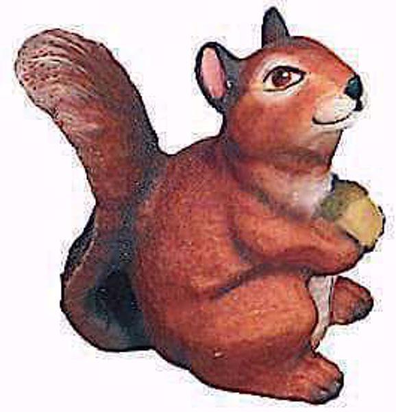 Picture of Squirrel cm 8 (3,1 inch) Raffaello Nativity Scene traditional style oil colours Val Gardena wood