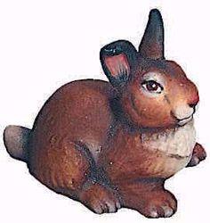 Imagen de Conejo cm 8 (3,1 inch) Belén Raffaello estilo clásico colores al óleo en madera Val Gardena