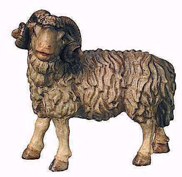 Picture of Ram cm 8 (3,1 inch) Raffaello Nativity Scene traditional style oil colours Val Gardena wood