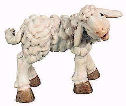 Picture of Lamb cm 10 (3,9 inch) Raffaello Nativity Scene traditional style oil colours Val Gardena wood