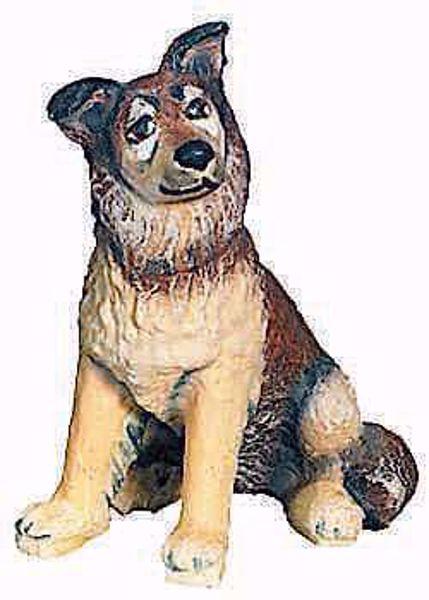 Imagen de Perro Pastor cm 10 (3,9 inch) Belén Raffaello estilo clásico colores al óleo en madera Val Gardena