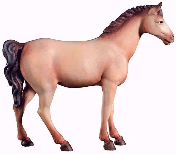 Immagine di Cavallo Bianco cm 10 (3,9 inch) Presepe Raffaello stile classico colori ad olio in legno Val Gardena