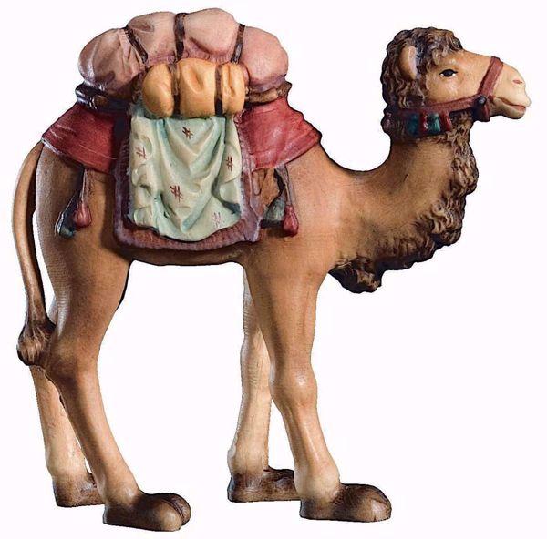 Immagine di Cammello cm 10 (3,9 inch) Presepe Raffaello stile classico colori ad olio in legno Val Gardena