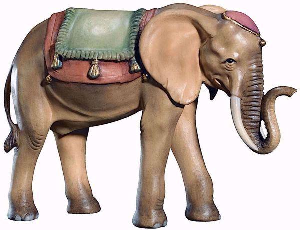 Imagen de Elefante cm 10 (3,9 inch) Belén Raffaello estilo clásico colores al óleo en madera Val Gardena