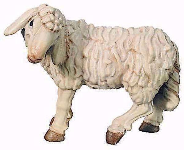Immagine di Pecora in Piedi cm 10 (3,9 inch) Presepe Raffaello stile classico colori ad olio in legno Val Gardena