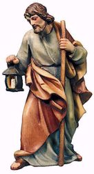Immagine di San Giuseppe cm 13 (5,1 inch) Presepe Raffaello stile classico colori ad olio in legno Val Gardena