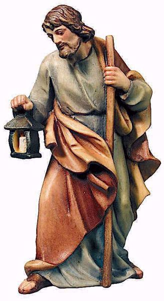 Picture of St. Joseph cm 13 (5,1 inch) Raffaello Nativity Scene traditional style oil colours Val Gardena wood
