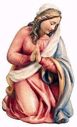 Immagine di Maria cm 13 (5,1 inch) Presepe Raffaello stile classico colori ad olio in legno Val Gardena