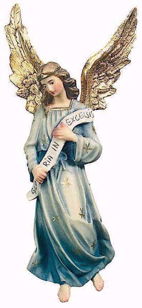 Immagine di Angelo Gloria cm 12 (4,7 inch) Presepe Raffaello stile classico colori ad olio in legno Val Gardena