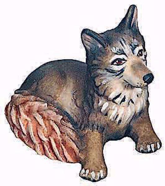 Immagine di Volpe cm 12 (4,7 inch) Presepe Raffaello stile classico colori ad olio in legno Val Gardena