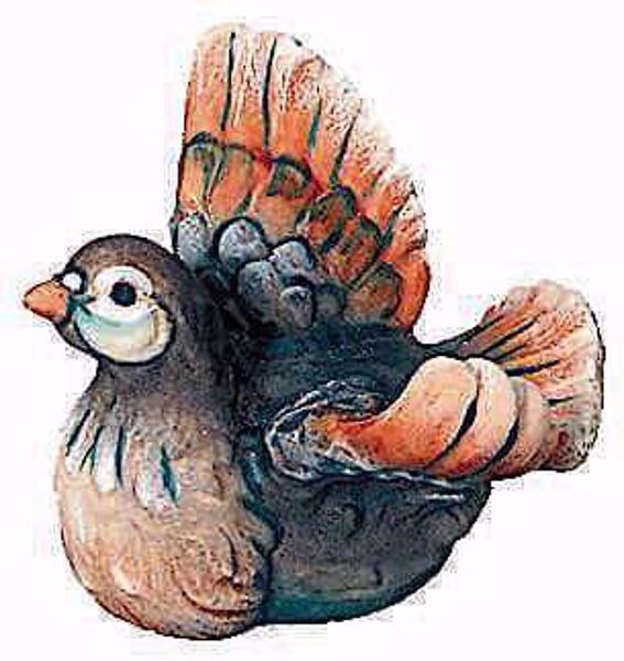 Imagen de Paloma cm 12 (4,7 inch) Belén Raffaello estilo clásico colores al óleo en madera Val Gardena