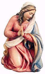 Immagine di Maria cm 12 (4,7 inch) Presepe Raffaello stile classico colori ad olio in legno Val Gardena