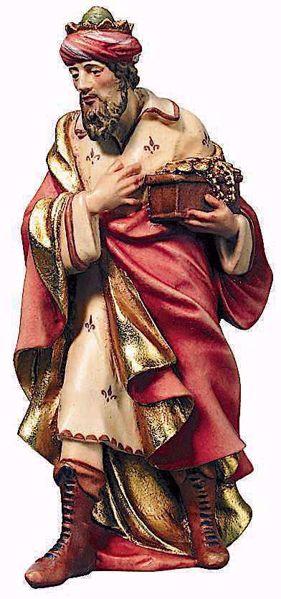 Immagine di Gaspare Re Magio Bianco cm 12 (4,7 inch) Presepe Raffaello stile classico colori ad olio in legno Val Gardena