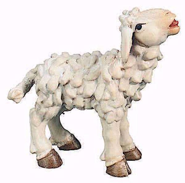 Picture of Lamb cm 15 (5,9 inch) Raffaello Nativity Scene traditional style oil colours Val Gardena wood