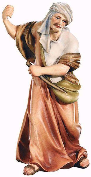 Imagen de Camellero cm 15 (5,9 inch) Belén Raffaello estilo clásico colores al óleo en madera Val Gardena