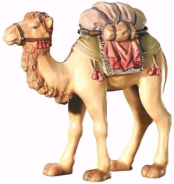 Immagine di Cammello cm 8 (3,1 inch) Presepe Leonardo stile arabo tradizionale colori ad olio in legno Val Gardena