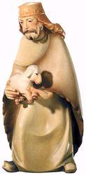 Imagen de Pastor con Oveja cm 8 (3,1 inch) Belén Leonardo estilo tradicional árabe colores al óleo en madera Val Gardena