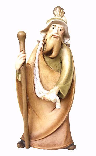 Immagine di Cammelliere cm 10 (3,9 inch) Presepe Leonardo stile arabo tradizionale colori ad olio in legno Val Gardena