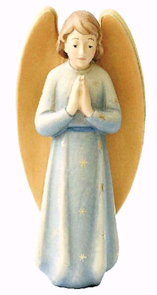 Imagen de Ángel Gloria cm 12 (4,7 inch) Belén Leonardo estilo tradicional árabe colores al óleo en madera Val Gardena