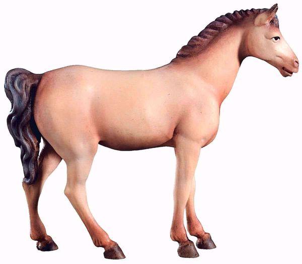 Immagine di Cavallo Bianco cm 12 (4,7 inch) Presepe Leonardo stile arabo tradizionale colori ad olio in legno Val Gardena