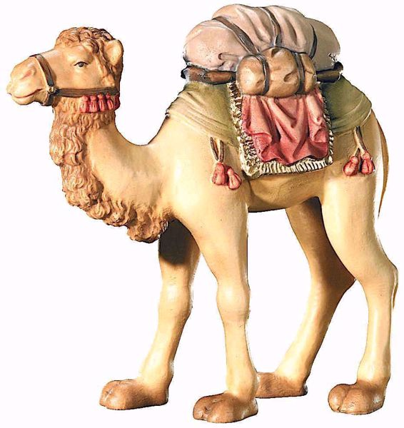 Picture of Camel cm 12 (4,7 inch) Leonardo Nativity Scene traditional Arabic style oil colours Val Gardena wood