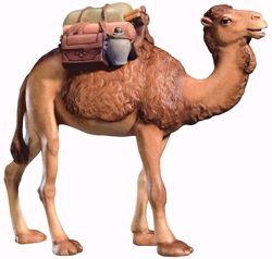 Imagen de Camello con Silla cm 12 (4,7 inch) Belén Leonardo estilo tradicional árabe colores al óleo en madera Val Gardena