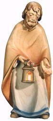 Imagen de San José cm 12 (4,7 inch) Belén Leonardo estilo tradicional árabe colores al óleo en madera Val Gardena