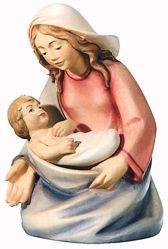 Imagen de María cm 12 (4,7 inch) Belén Leonardo estilo tradicional árabe colores al óleo en madera Val Gardena