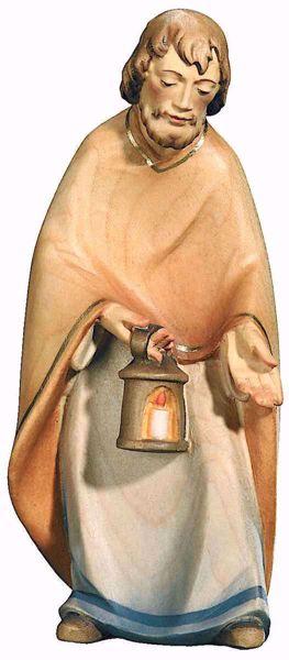 Imagen de San José cm 16 (6,3 inch) Belén Leonardo estilo tradicional árabe colores al óleo en madera Val Gardena
