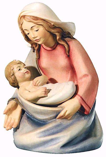 Imagen de María cm 16 (6,3 inch) Belén Leonardo estilo tradicional árabe colores al óleo en madera Val Gardena
