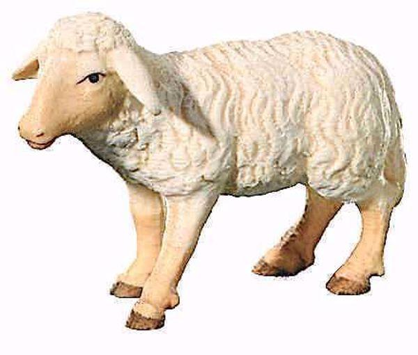Picture of Standing Sheep cm 16 (6,3 inch) Leonardo Nativity Scene traditional Arabic style oil colours Val Gardena wood