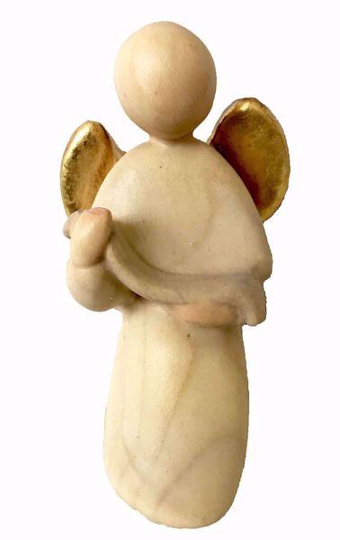 Immagine di Angelo cm 14 (5,5 inch) Presepe Stella stile moderno colori ad olio in legno Val Gardena