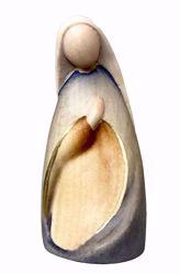 Imagen de María cm 14 (5,5 inch) Belén Stella estilo moderno colores al óleo en madera Val Gardena