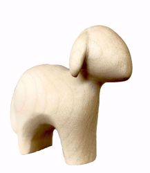Picture of Standing Sheep cm 12 (4,7 inch) Stella Nativity Scene modern style natural colour Val Gardena wood