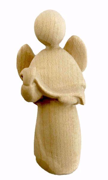 Imagen de Ángel cm 14 (5,5 inch) Belén Stella estilo moderno color natural en madera Val Gardena