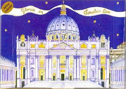 Imagen de Calendario de Adviento Navidad Basílica de San Pedro Roma  24x66 cm (9,4x26 inch)