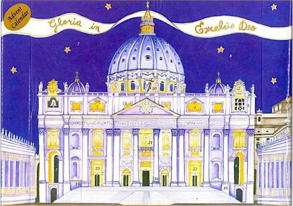 Immagine di Calendario dell' Avvento Natale Basilica di San Pietro Roma 24x66 cm