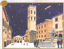 Imagen de Calendario de Adviento Navidad Asís Plaza Principal del Comune 23x29 cm (9x11,4 inch)