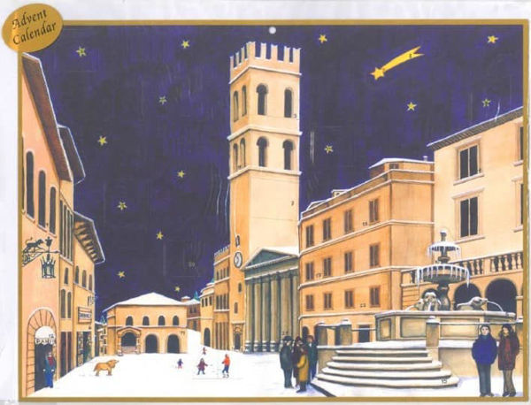 Picture of Christmas Advent calendar Assisi Communal Square 23x29 cm (9x11,4 inch)