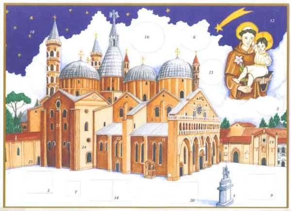 Picture of Christmas Advent calendar Basilica of Saint Anthony of Padua 24x34 cm (9x13,4 inch)