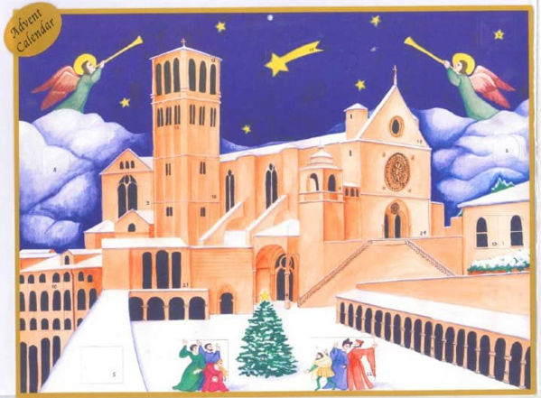 Picture of Christmas Advent calendar Basilica of Saint Francis of Assisi 22x30 cm (8,7x11,8 inch)