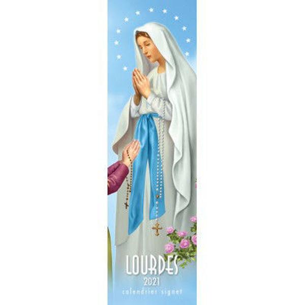 Imagen de Signet calendrier 2021 Lourdes cm 6x20 Calendario Segnalibro